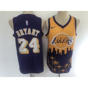 Los Angeles Lakers Kobe Bryant Purple Gold Jersey